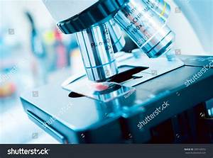 Medical Equipment Microscope Background Stock Photo ...