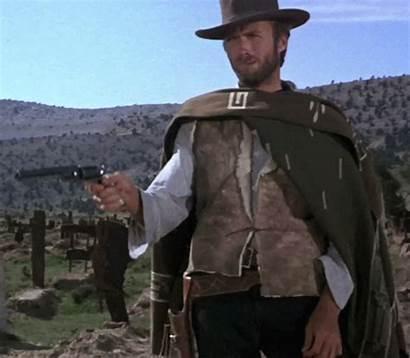 Clint Eastwood Gun Gifs Poncho Western Shoot