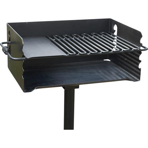 pilot rock heavy duty jumbo steel park style charcoal grill      model cbp