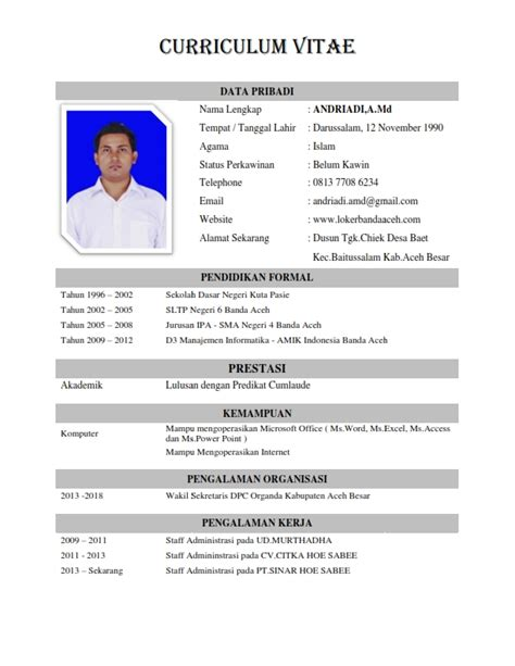 Contoh Resume Cv by Contoh Resume Page 3 And Page 4 Car Interior Design