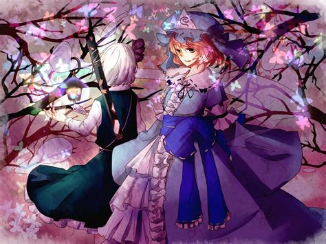 Anime Butterfly Wallpaper - touhou dress butterfly weapons konpaku youmu anime