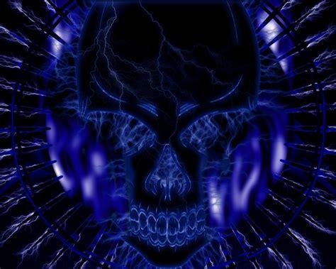 blue skull  hd wallpapers pics