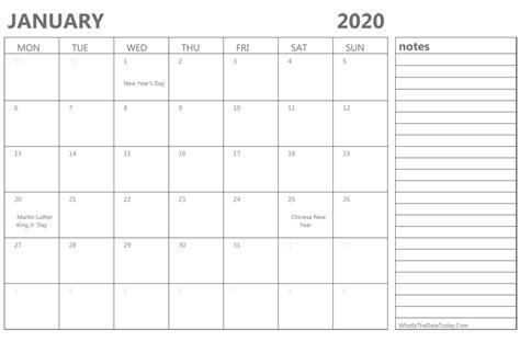 editable january calendar holidays notes