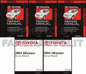 New 2004 Toyota 4runner Repair Manual Set Shop Service
