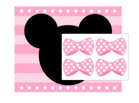 Free Printable Minnie Mouse Bow Template by Free Pink Minnie Mouse Printables Extras Printabelle