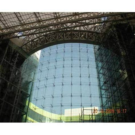 glass facades systems cable building truss systems