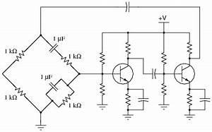 oscillator circuits discrete semiconductor devices and With oscillator using transistor bjt circuit working wein bridge oscillator