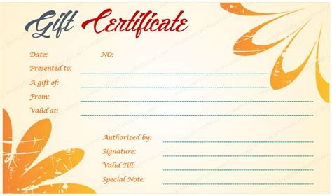 gift certificate templates  images gift