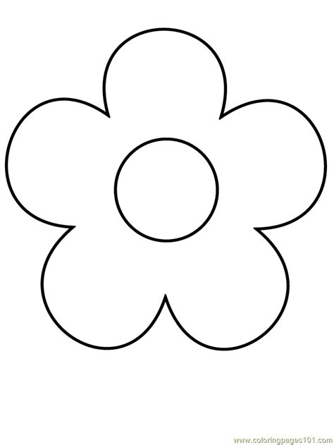 Coloring Easy by Simple Flower Coloring Pages Getcoloringpages