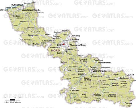 Carte Nord De La by Carte Du Nord Nord Carte Du D 233 Partement 59 Villes