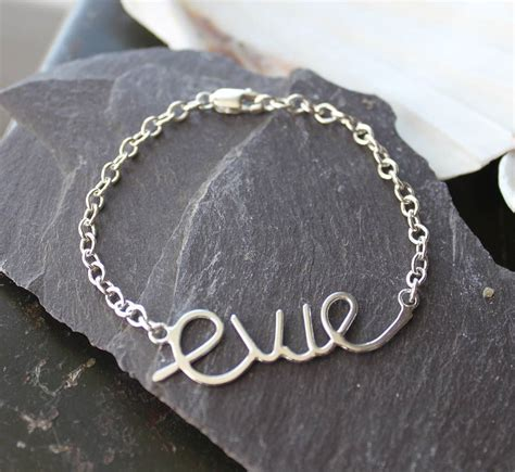Personalised Baby's Name Bracelet By Marie Walshe