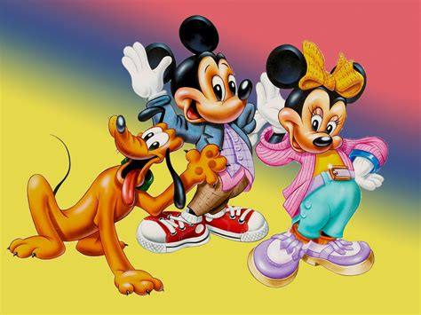 mickey mouse minnie  pluto beautiful hd desktop