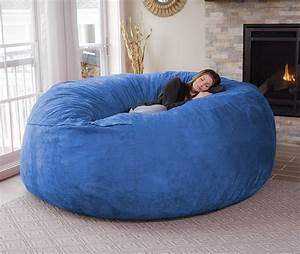 the chill bag is an eight foot bean bag chair technabob With bean bag chair for two