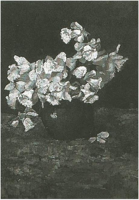 bowl  daffodils vincent van gogh  painting