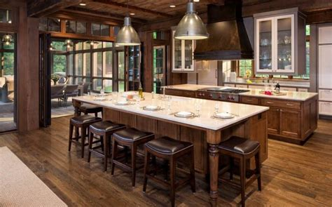kitchen island with stove and seating 46 fabulous country kitchen designs ideas 9459