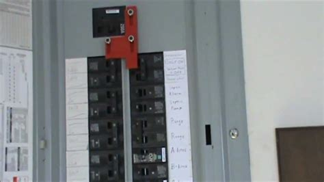 How Wire Generator Electrical Panel Youtube