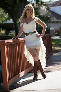 chic short white country wedding dresses sang maestro With country wedding dress with boots