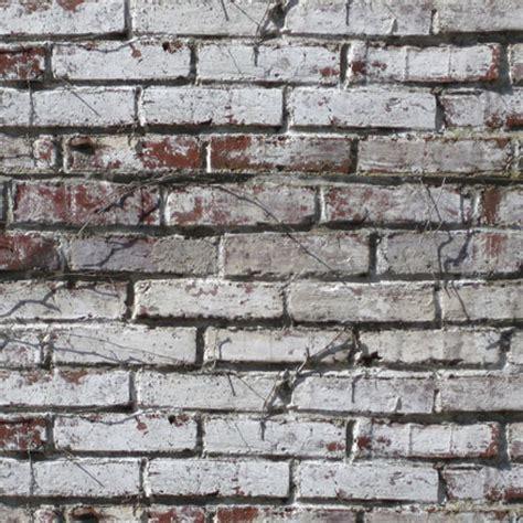 Brique Peinte En Blanc