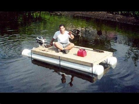 diy pvc pipe pontoon boat homemade boat   day youtube