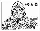 Scorpion Mortal Kombat Coloring Mk11 Draw Drawing Too Nood Sketch Drawittoo Template sketch template
