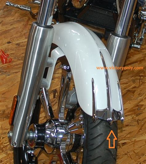 victory motorcycle chrome front fender trim victory