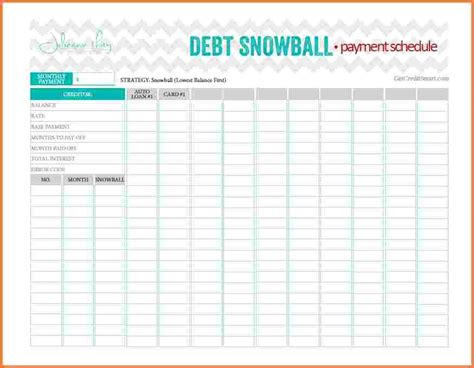 snowball credit card payoff spreadsheet excel