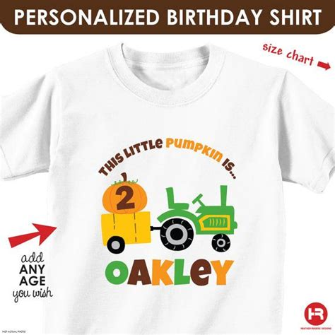 Heather Hill Pumpkin Patch by Pumpkin Amp Tractor Birthday Shirt Personalized Fall Shirt