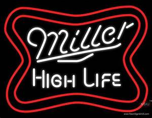 Miller High Life Word Neon Beer Sign – NeonSigns USA INC