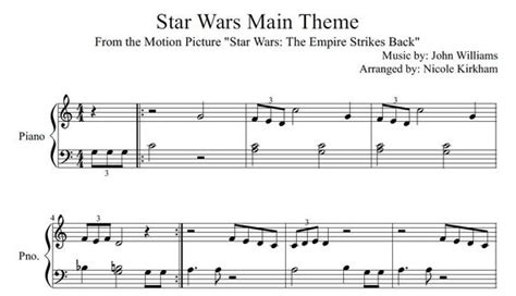 Harry potter by john williams easy sheet music for piano beginners music score. Star Wars Main Theme Beginner Sheet Music   Etsy