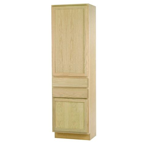 kitchen pantry cabinet furniture 24x84x18 in pantry cabinet in unfinished oak dduc2418ohd