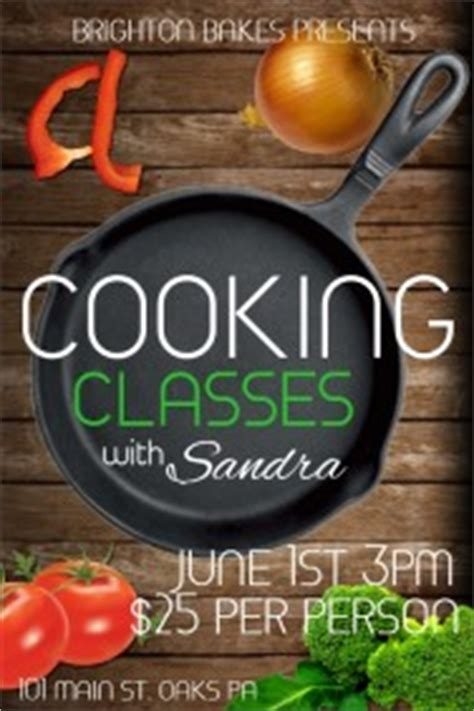 customizable design templates  cooking classes