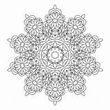 Coloring Kaleidoscope Pages Adults Adult Printable Print Books Coloringhome Mandala Popular Mandalas Template sketch template