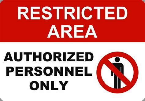 Authorized Personnel Only 7x10 Metal Safety Signs