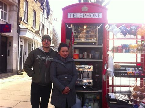 What to watch, what to eat, and where to shop from home. Red telephone box coffee shop in London's Hampstead