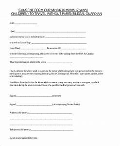 5 sample child travel consent forms pdf sample templates With consent form template for children