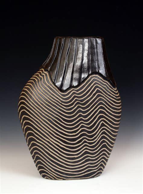 overlap shoulder pot  larry halvorsen ceramic vessel
