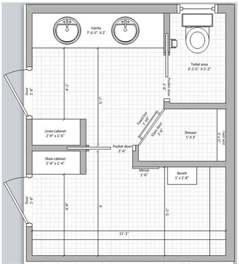 Master Bedroom Plans With Bath by نتيجة بحث الصور عن Dise 241 O De Ba 241 Os Con Closet Y Planos En