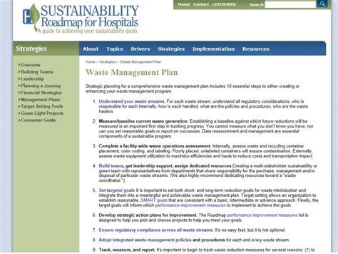 Waste Management Plan For Hospitals Wasteportal