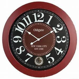 Horloge Murale Rouge : horloge murale balancier 78cm rouge ~ Teatrodelosmanantiales.com Idées de Décoration