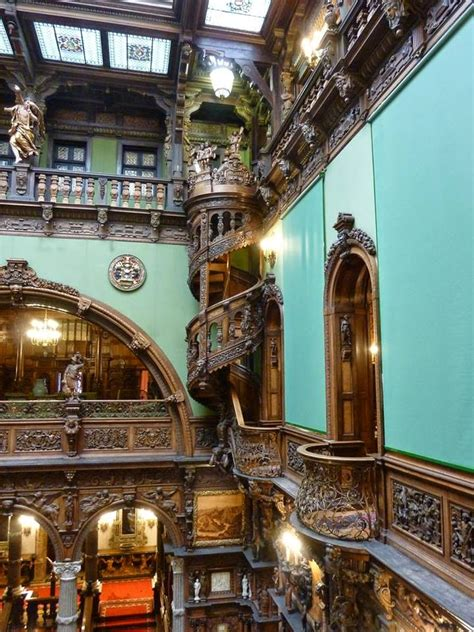 pictures beautiful spiral staircase  peles castle romania