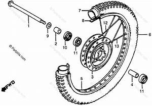 Honda Motorcycle 1980 Oem Parts Diagram For Front Wheel