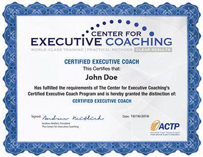 executive coach training program description