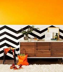 13 best images about Half Paint Half Wallpaper on