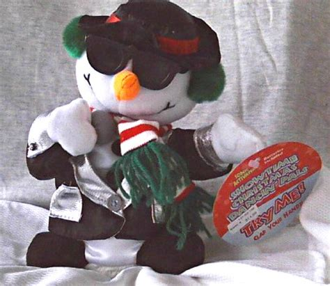 singing dancing snowman animated plush toy christmas