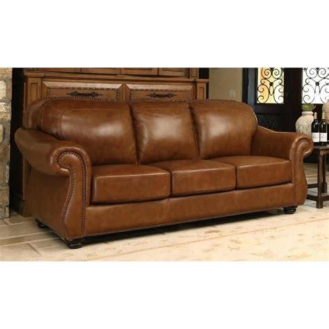 abbyson living leather sofa abbyson living erickson leather sofa in camel brown sk