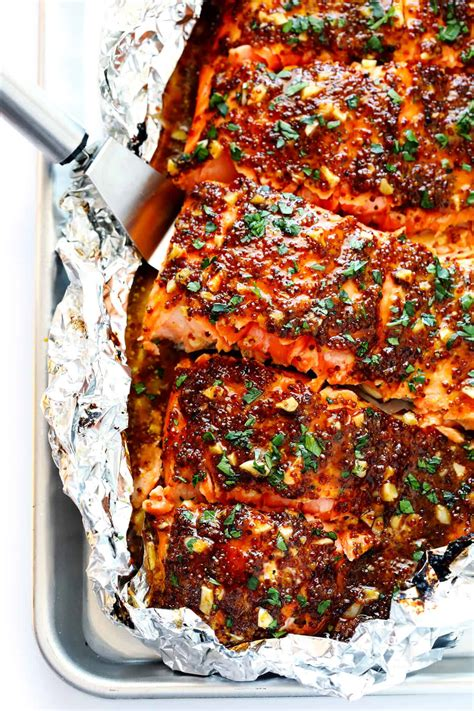 salmon healthy recipes honey foil pan dinner recipe easy oven ifoodreal making mustard garlic delites asparagus lemon cafe should