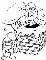 Chimney Santa Coloring Christmas Pages Drawing Down Going Sheet Corner Familycorner Staff Posts Getdrawings Books sketch template