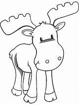Coloring Moose Animal sketch template