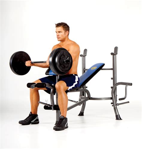 Marcy Chair Exercises by Marcy Standard Bench 80 Lb Weight Set Fitness