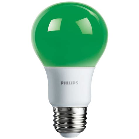green a19 led light bulb medium base